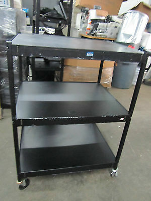 Heavy Duty Metal Roller Cart Table with wheels 32Lx27wx44H