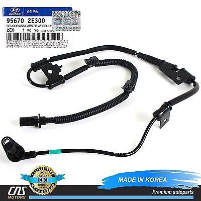 GENUINE Fits 05-09 Hyundai Tucson ABS Speed Sensor Front Left OEM 95670-2E300