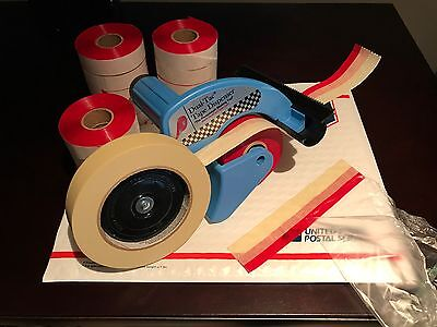 Genuine Dual Tac Tape® & Dispenser Combo - 12 Rolls w/ Free Shipping