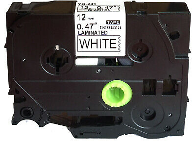 Great quality Black on White Label Tape Compatible for Brother TZ TZe 231 Tze231