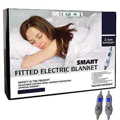 Fitted Electric Blanket 40cm Deep Wall - Machine Washable - 2 Year Warranty
