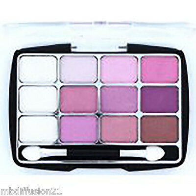 Ombre - Fard A Paupieres - Palette 12 Couleurs - Rose - N°6 - Make-Up - Cosmod