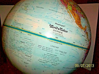 Vintage Replogle  World Nation 12' Globe  in great condition