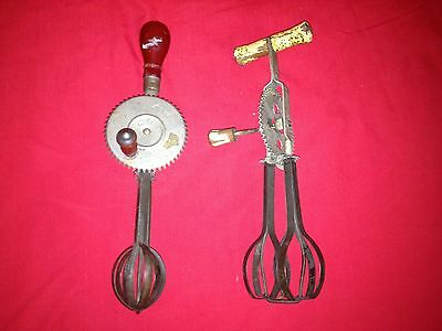 Vintage Decorative Lot of 2 HAND HELD Beaters Mixers Androck ~ Old Kitchen Decor