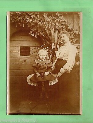 #d66.  Old Photograph Of Girl With Lady