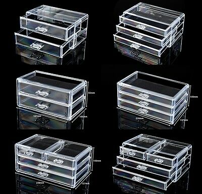 Cosmetic Organiser Acrylic Makeup case drawers Jewelry storage clear cabinet i