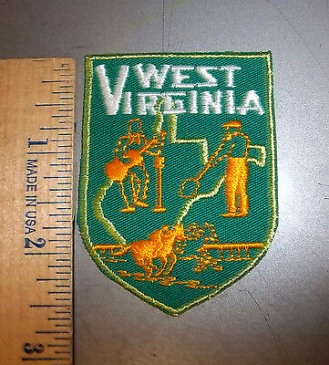 West Virginia collectible State iron on embroidered patch, Beautiful patch