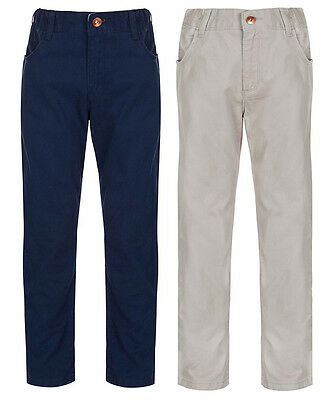 Boy's Trousers Kids Casual Beige & Navy Cotton Chino Pants