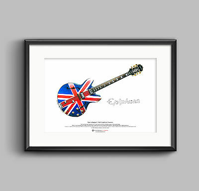 Noel Gallagher's 1960's Epiphone Sheraton ART POSTER A3 size