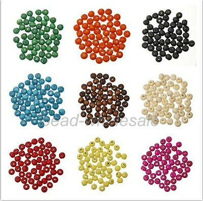 Wholesale 300 pcs Round Wood Ball Spacer Loose Beads 8mm Jewelry Making DIY