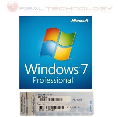 Licenza Windows 7 Pro Professional 32/64 Bit DVD Product Key Full completa