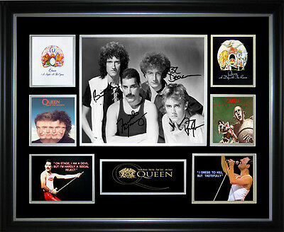 Queen Signed Framed Memorabilia