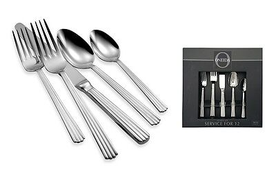 Oneida Service for 12 Corduroy 18/10 Stainless Flatware