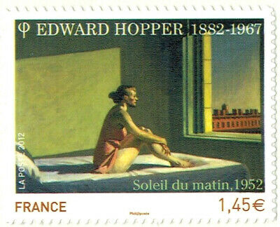2012-ADHESIF-TIMBRE FRANCE NEUF**HOPPER EDWARD-ART-TABLEAUX-STAMP-Yv.661a