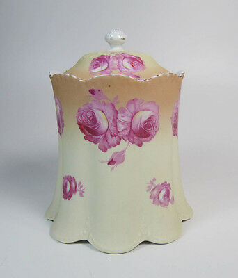 Austrian Scalloped Porcelain Dresser Jar