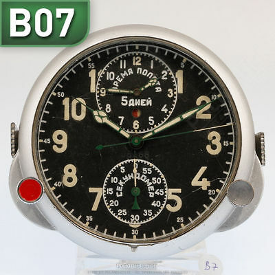 RUSSISCHE BORDUHR B-Uhr | RUSSIAN AIRCRAFT BOARD CLOCK Chronograph B07