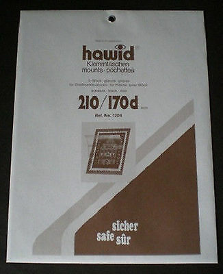 Hawid Stamp Mounts Size 210/170d BLACK Background Pack of 5