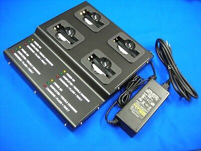 4 Bank Pro Strong Metal Charger(UL/CE) For Kenwood KNB15 TK238/338/2100/3100...