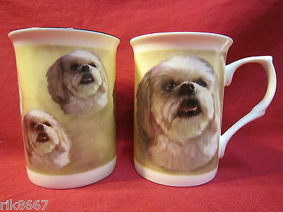 Lhasa Apso Dog English Fine Bone China Mug