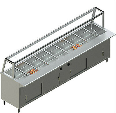 NEW RESTAURANT STAINLESS STEEL ECONOMICAL Electric Buffet Table MODEL PBTS-8E