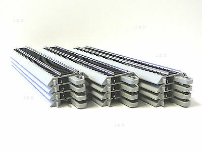 HO SCALE MODEL RAILROAD TRAINS LAYOUT BACHMANN EZ TRACK SILVER 12 9 IN STRAIGHT