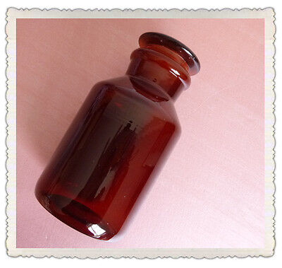 125ml Amber Glass Reagent bottle,wide mouth,Ground stopper,Lab Glassware