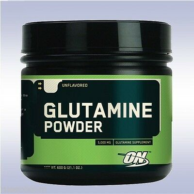 OPTIMUM NUTRITION GLUTAMINE POWDER (600 G) unflavored muscle recovery amino acid