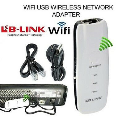 WIFI USB Wireless NETWORK ADAPTER for XBOX 360 LIVE & PS3 UK STOCK