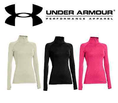 *CLEARANCE* Ladies Under Armour Fitted Mock Coldgear Cozy Neck 1/2 Zip - 1239153