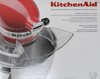 KitchenAid 1-Piece Pouring Shield w/ Wide Chute for Artisan 4, 5 Qt. Mixer KN1PS