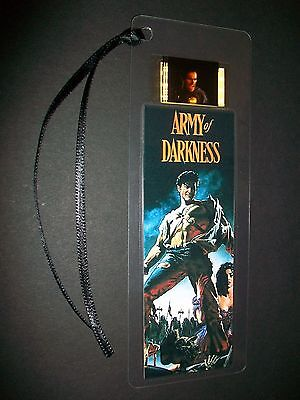 ARMY OF DARKNESS Movie Film Cell Bookmark compliments dvd poster vhs