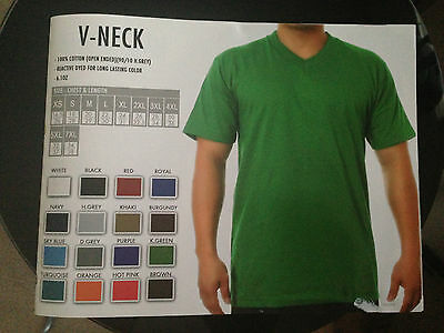 43f8e55ae3447d 1 NEW SHAKA Wear Plain Short Sleeve V-Neck T-Shirt Color Blank S-3Xl ...