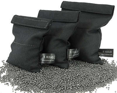 LEAD SHOT POUCHES with easy fill design - 1,2 or 3 Kg Sizes