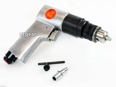 "Pro 3/8"" Air Drill Pneumatic Reversible Auto Mechanics Repair 1/4"" Air Inlet NEW"