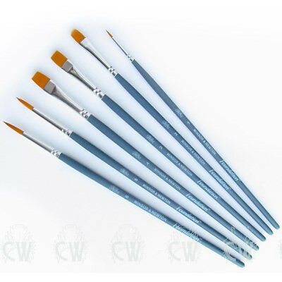 Winsor & Newton Foundation GOLDEN 6 Brush Set 016. Artists Watercolour & Acrylic