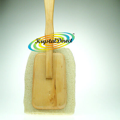 Manicare Wooden Long Handle Shower Wash Bath Brush Back Long Reach Loofah
