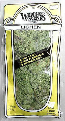 NEW Woodland Scenics Lichen Light Green 1.5 Quarts L162