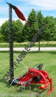 Enorossi BF180H 6' 3-Pt Sickle Bar Mower,Ditch Bank Mower w/Hyd Lift: ASSEMBLED!