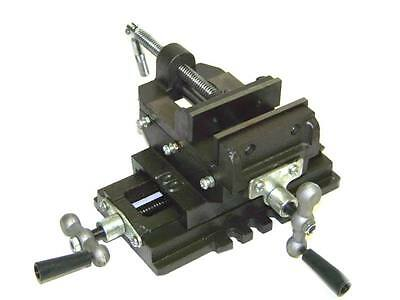 "5"" Cross Sliding  Drill Press Vise Slide Vice Heavy Duty Machine Shop Tools"