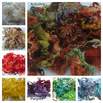 Heidifeathers Dyed Curly Wool, Curly Locks - For Wet and Needle Felting