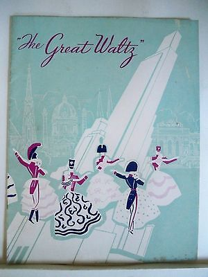 GREAT WALTZ Souvenir Program GUY ROBERTSON / MARIE BURKE / JOHANN STRAUSS 1936