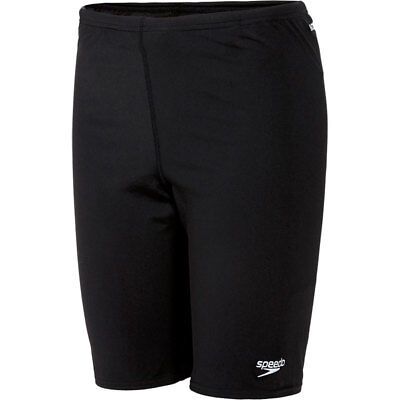 NEW Boys Speedo Endurance+ Swimming Jammer Jammers Swim Trunks Swimwear - Black