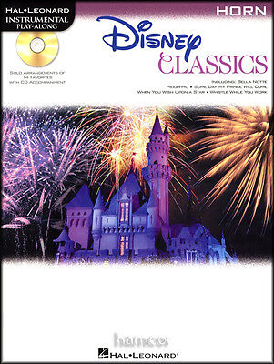 Disney Classics French F Horn Instrumental Play-Along Sheet Music Book with CD