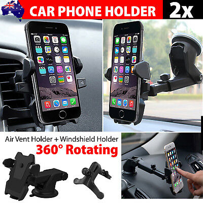Universal Windshield Mount Car Holder Cradle For GPS iPhone 7 6S Plus Samsung S8