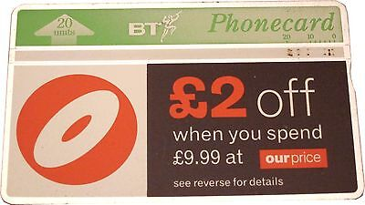 Collectable BT Phonecard -- Our Price £2 Off When You Spend £9.99 20 Units USED