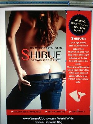 Shibue:  Strapless/Seamless Panty:  Black, Red, Pink or Nude