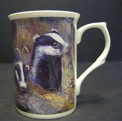 Wild Life Badger Fine Bone China Mug Cup Also Available in Otter Hedgehog Fox