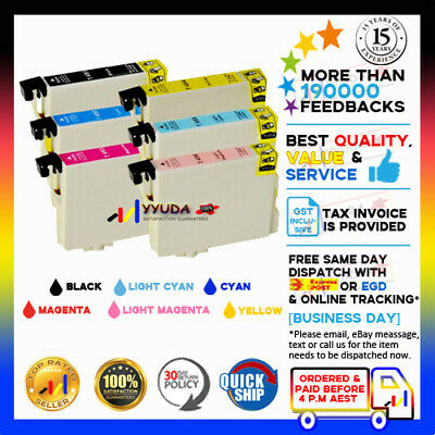 20x Ink Cartridge T0491-T0496 for Epson R310 R350 R230 R210 RX510 RX630 Printer