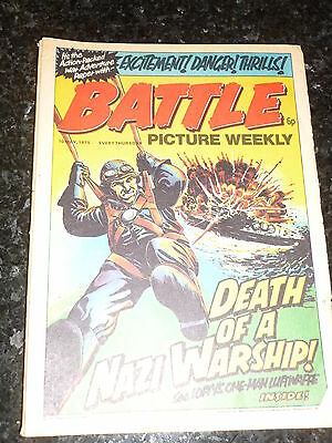 BATTLE PICTURE WEEKLY Comic - Date 10/05/1975 - UK Paper Comic