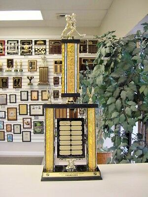 Hockey Awesome New Large Two Post Trophy 14 Year Perpetual Award